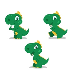 cute little dinosaurs vector image vector image