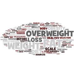 Fat word cloud concept vector