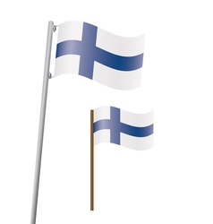 flag of Finland vector image vector image