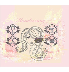 hairdressing salon poster vector image
