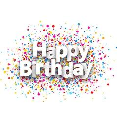 Happy birthday paper background vector