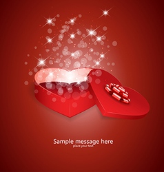 Heart box 2 vector