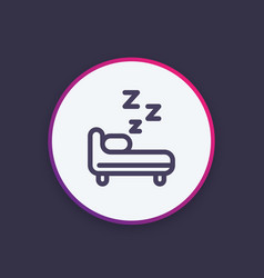 Hostel round icon in line style vector