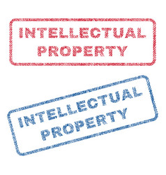 Intellectual property textile stamps vector