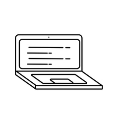 laptop computer technology isolated icon vector image