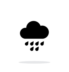 Light rain weather icon on white background vector image vector image
