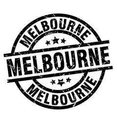 Melbourne black round grunge stamp vector