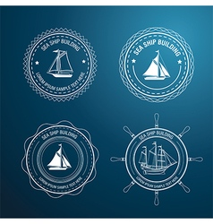 Nautical label3 vector