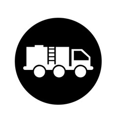 oil truck isolated icon vector image vector image