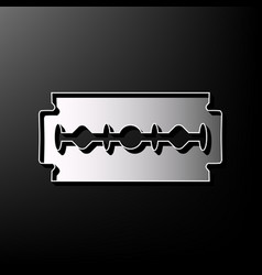 Razor blade sign gray 3d printed icon on vector