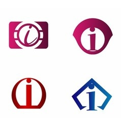 Set of letter I logo icons design template element vector image