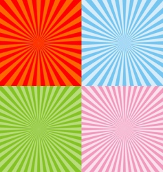 set of radiant backgrounds vector image vector image