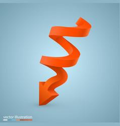 spiral arrow vector image