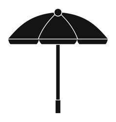 Sun umbrella icon simple style vector
