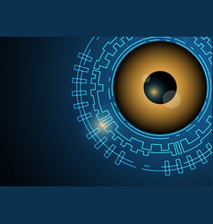 Technology digital cyber security eye background vector
