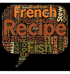 The 10 most popular french recipes text background vector