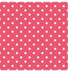 Tile pattern with white polka dots on pink vector image