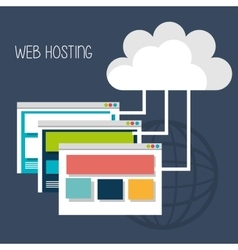 Web housting and technology design vector image