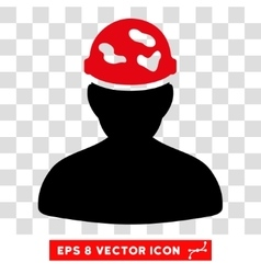 Soldier under spotted helmet eps icon vector