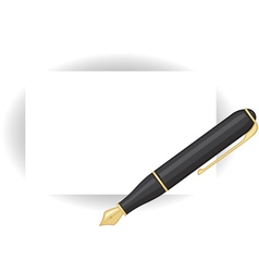 Card and pen vector image