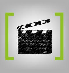 film clap board cinema sign  black vector image