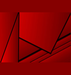 Red background abstract square overlap concept vector