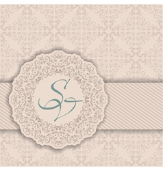 Seamless damask background with a circular pattern vector