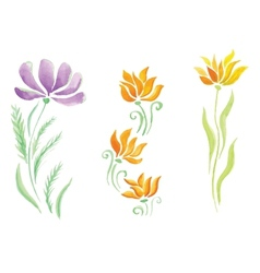 Little beautiful watercolor floral bouquet vector