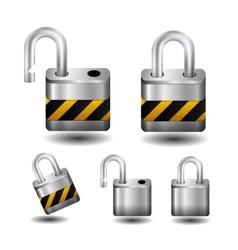 Metall lock vector