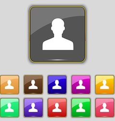 User person log in icon sign set with eleven vector