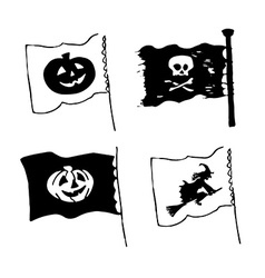 Halloween flag designs vector