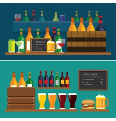 Beverage and beer flat design banner vector