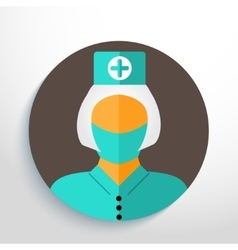Nurse with gauze bandage vector