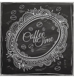 Coffee time decorative border background vector