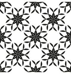 Geometric floral seamless background vector