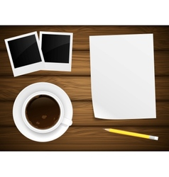 Coffee cup white paper vector image