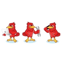 Cardinal mascot with phone vector