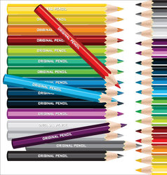 Different colored pencils vector image