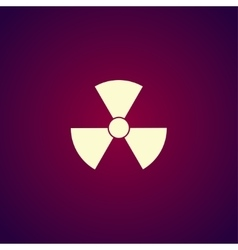 Radiation symbol flat design style vector