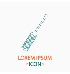 Turn-screw computer symbol vector