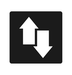 Arrows up and down isolated icon vector