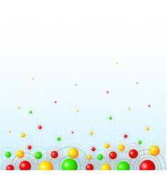 Background with colorful balls vector image