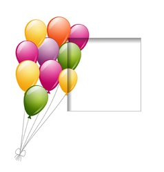 balloons and a frame vector image vector image