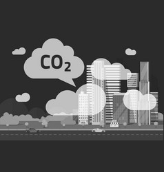 Co2 emissions by big city vector