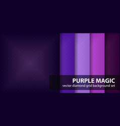 Diamond pattern set purple magic seamless vector