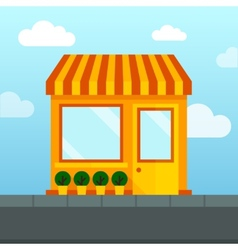 Empty store front vector image vector image