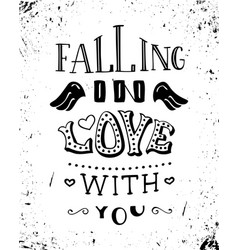 falling in love with you vector image vector image