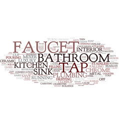 Faucet word cloud concept vector