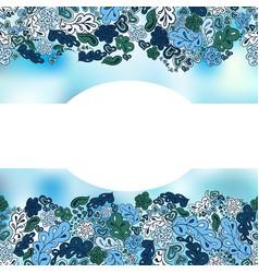 Floral doodle background for inscriptions vector