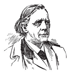 Henry ward beecher vintage vector